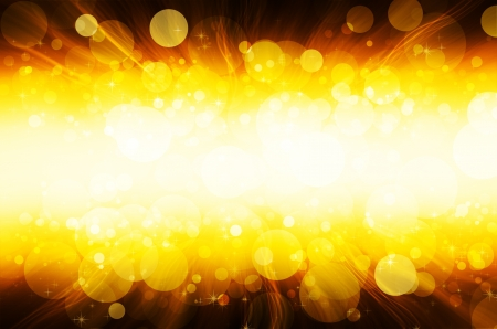 abstract yellow bokeh background