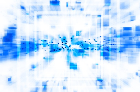 abstract blue technology background photo