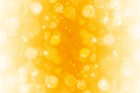 yellow shine: abstract bokeh on yellow background