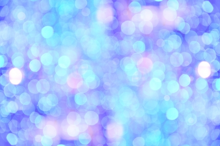 colorful bokeh on blue background