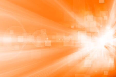 internet speed: abstract light and square on orange background