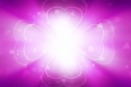 light of heart on purple background. photo