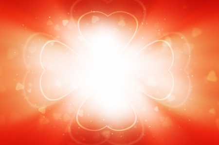 light of heart on red background  photo
