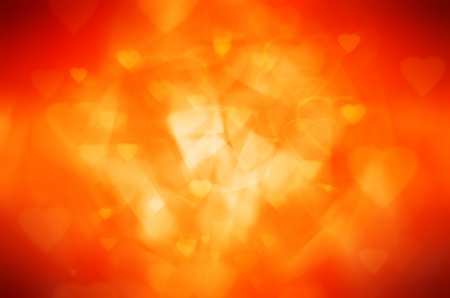 orange heart abstract background photo