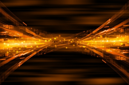 colourful fire: abstract orange tech background.