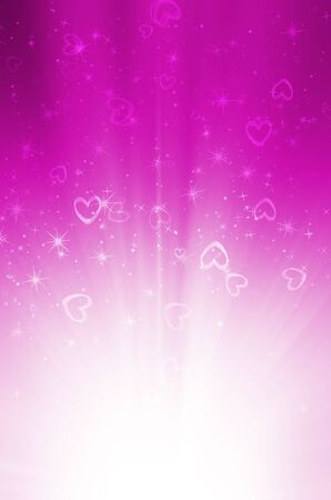 abstract pink background with heart photo