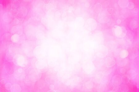 pink bokeh and heart abstract background.  photo