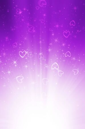purple swirls: abstract purple background with heart Stock Photo