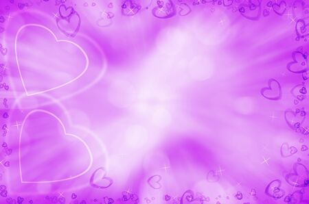 Valentines day background with purple hearts  photo