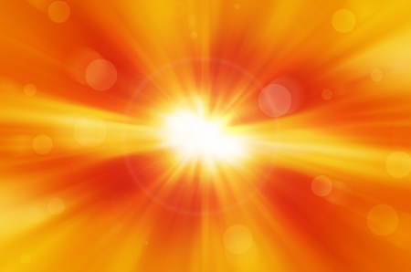 yellow background with warm sun and lens flare  photo