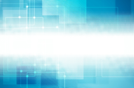 Abstract blue Hi-tech background. Stock Photo - 19949678