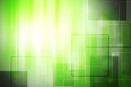 green power: abstract light tech on green background Stock Photo