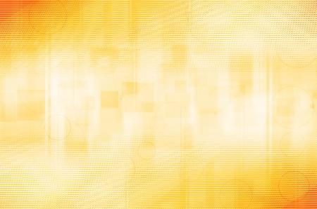 abstract gele cirkels en vierkante achtergrond