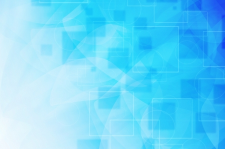 blue technology background with curves lines Stock Photo