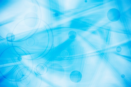 abstract circles on blue background photo
