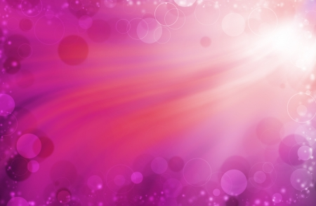 colorful bokeh on pink curves background photo