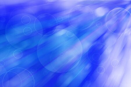 abstract circles on blue background. photo