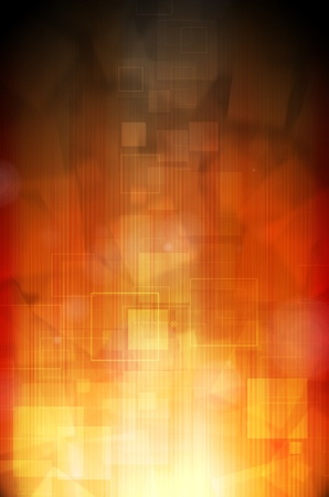 Abstract dark orange technology background  photo