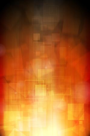 Abstract dark orange technology background