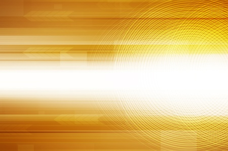 Abstract yellow design hi-tech background.  photo