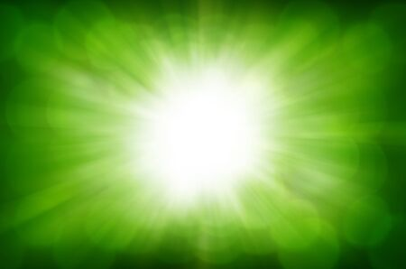 green bokeh abstract light background  Stock Photo