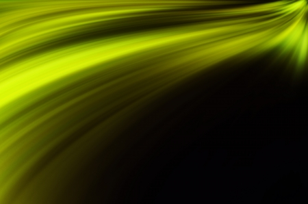abstract green lines on dark background photo