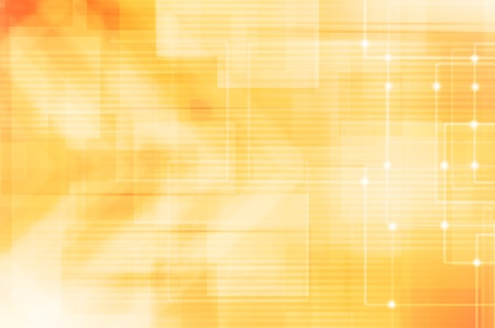 abstract hi-tech on yellow background Stock Photo