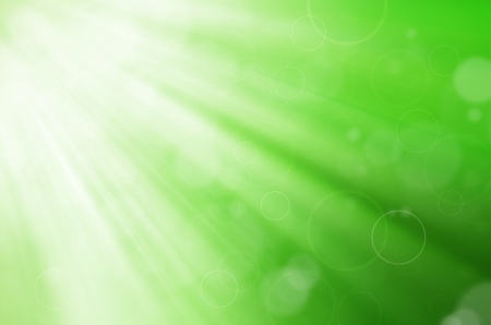 green light with circles background Stock Photo