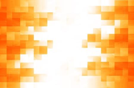 futurist: orange square abstract background