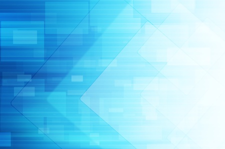 Abstract tech on blue background photo