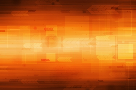 orange color: Abstract technology on orange background.