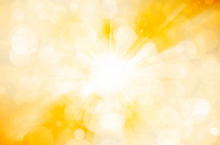 抽象的な背景の黄色のボケ味 写真素材