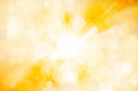 gele bokeh achtergrond Stockfoto