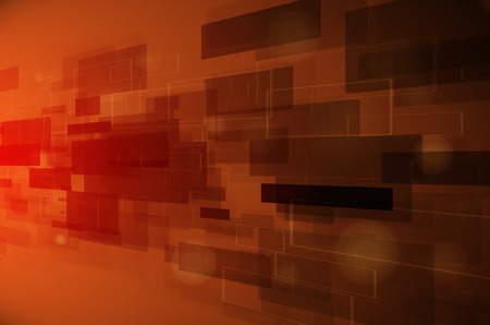 abstract dark orange technology background photo