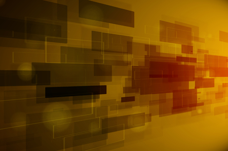 abstract dark yellow technology background photo
