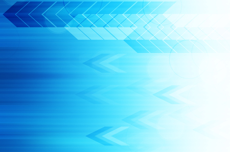 blue arrow tech abstract background Stock Photo