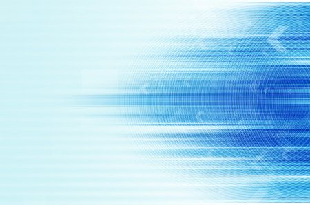 internet speed:  abstract blue design backgroud with circle and arrow