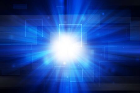 abstract blue light and square background Stock Photo