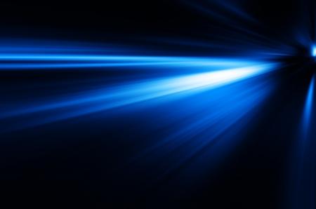 青い光の背景。