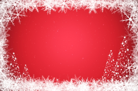 Abstract christmas background with christmas tree and snowflake   photo