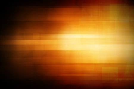 Abstract dark orange tech background  photo