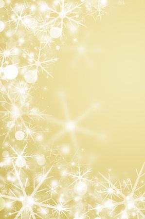 christmas background with snowflakes in winter  photo