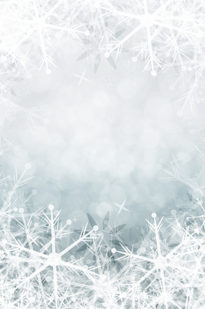 winter christmas background with snowflake  photo