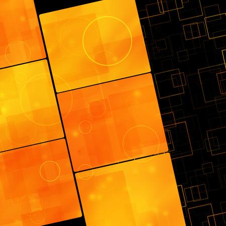 Dark orange square background  photo