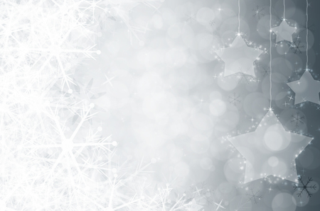 White christmas background with snowflake