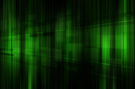 green and black: abstract green and black technology background. Stock Photo