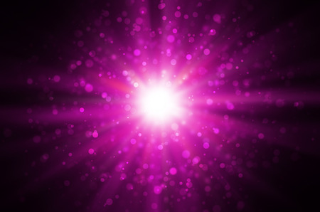 light bokeh on dark pink background.