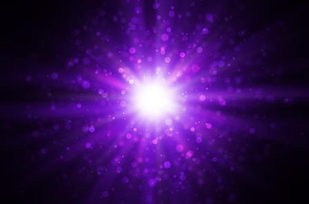 light bokeh on dark purple background. Stock Photo