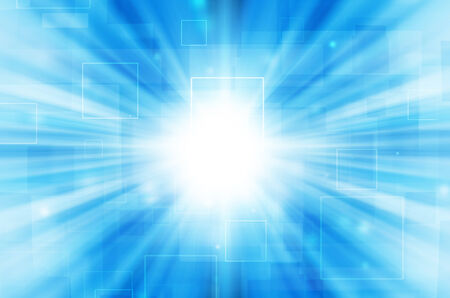 Abstract light tech on blue background.