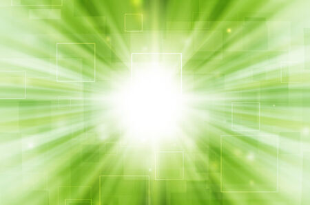 Abstract light tech on green background.  Stock Photo